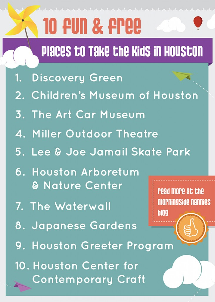 10 Fun And Free Places To Take The Kids In Houston Morningside Nannies