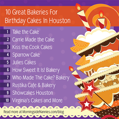 Swell 10 Great Bakeries For Birthday Cakes In Houston Birthday Cards Printable Giouspongecafe Filternl