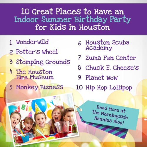10 Great Places To Have An Indoor Summer Birthday Party For Kids In