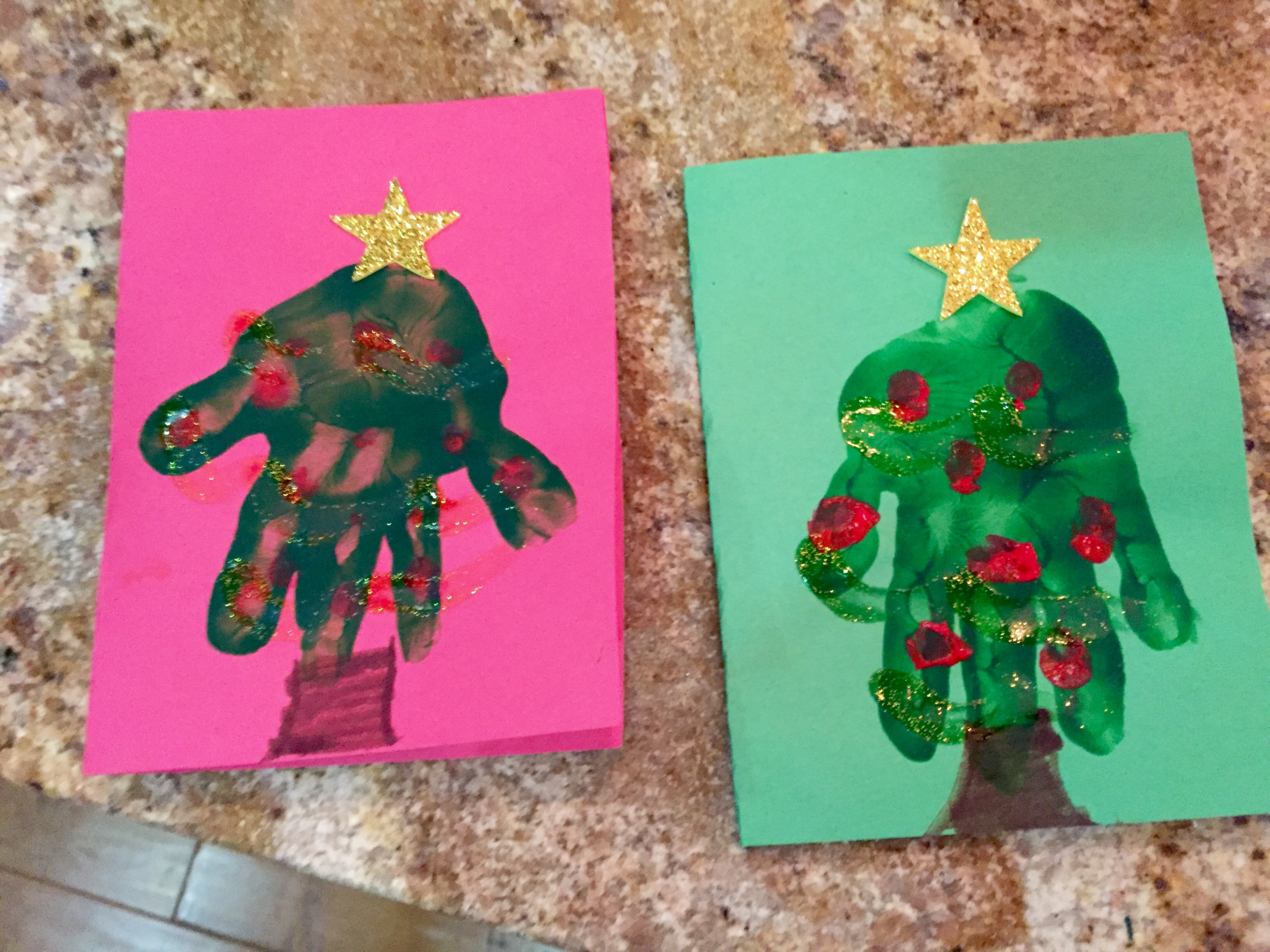Crafty DIY Kids Christmas Cards | Morningside Nannies